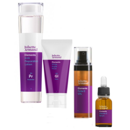 JULIETTE ARMAND - Set albire ten normal/mixt lotiune seruri masca - Whitening set  210+20+10+50ml