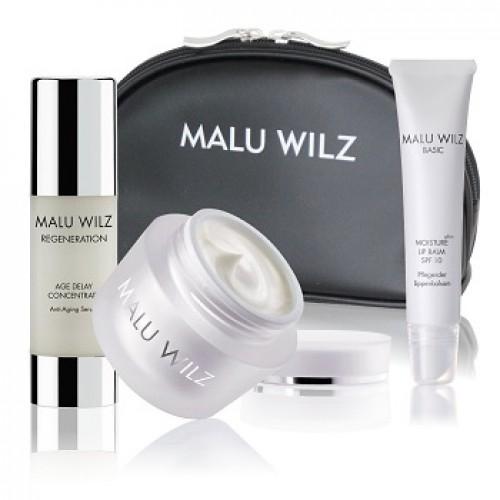 MALU WILZ - Set hranire intensiva crema fata ser balsam buze - Extra Rich Set 50+30+15ml