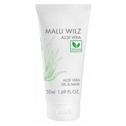 MALU WILZ Aloe Vera - Gel si masca vegan hidratant cu Aloe Vera si castravete - Aloe Vera Gel & Mask  50 ml