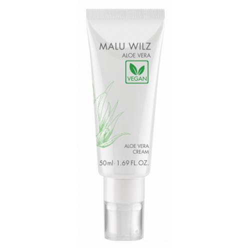 MALU WILZ Aloe Vera - Crema vegana hidratanta cu Aloe Vera castravete migdale shea - Aloe Vera Cream 50 ml