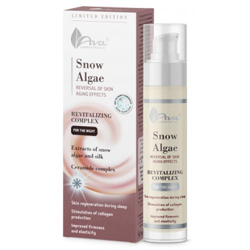 AVA Laboratory® Snow Algae - Crema regeneranta de noapte pentru ten normal uscat cu alge de zapada si vitamine - Snow Algae Night Cream 50ml