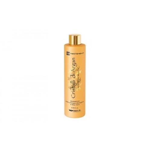 BRELIL Cristalli di Argan - Sampon par uscat cu ulei organic de argan si aloe vera - Cristalli di Argan  Shampoo 250ml