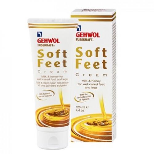 GEHWOL - Crema hidratanta reparatoare cu lapte si miere pentru picioare uscate - Fusskraft Soft Feet Creme 125ml