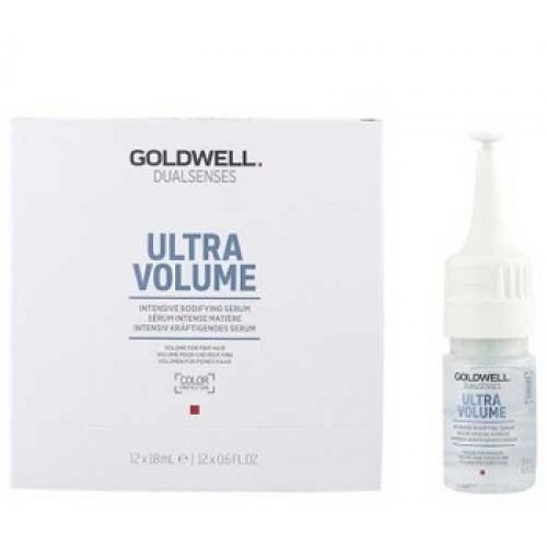 GOLDWELL Dualsenses Ultra Volume - Fiole volum par fin - Intensive Bodifying Leave-In Serum 12x18 ml