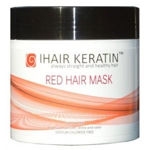 IHAIR KERATIN - Masca de par nuantatoare rosie fara clorura de sodiu - Red Hair Mask 500ml