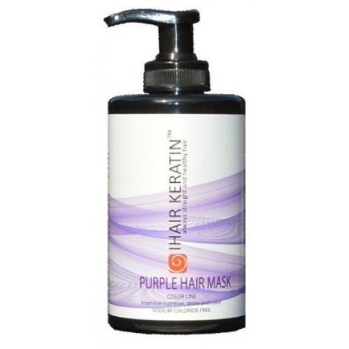 IHAIR KERATIN - Masca de par nuantatoare lila fara clorura de sodiu - Purple Hair Mask 300ml