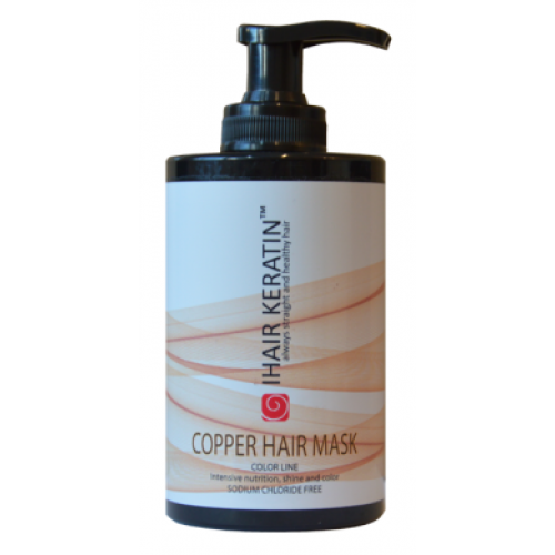 IHAIR KERATIN - Masca de par nuantatoare aramie fara clorura de sodiu - Cooper Hair Mask 300ml