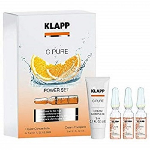 KLAPP - Set antiimbatranire si de luminozitate cu Vit C crema si fiole - C Power Set 15ml+3x2ml