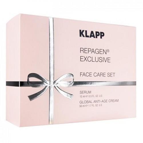 KLAPP - Set antiimbatranire crema si ser - Repagen Exclusive face care set 50ml+15ml