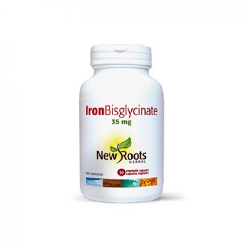 NEW ROOTS - Fier complex - Iron Bisglycinate – anemie 35 mg/30 caps veg