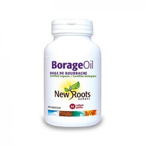 NEW ROOTS - Borago Oil pur - anti-inflamator endometrioza sani fibro-chistici sindrom pre-menstrual suport hormonal feminin 1000mg/60caps