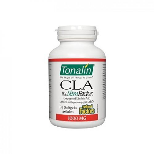 NATURAL FACTORS - Acid linoleic conjugat - CLA Tonalin - celulita obezitate colesterol 1000 mg/90 capsule