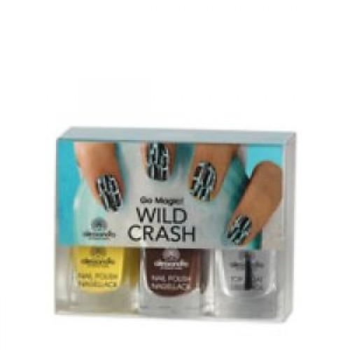 Alessandro - Set lacuri decor unghii - Set Go Magic Wild Crash Yellow  3x5ml