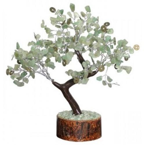 Copacul prosperitatii cu 300 de cristale de aventurin si monede chinezesti