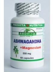 PROVITA - Ashwagandha cu Magneziu - adaptogen, calmant, tonic revitalizant 60caps