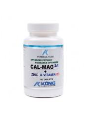 KONIG - Cal-Mag 2:1 Zinc & vitamin D - dantura, oase  500mg/60 caps