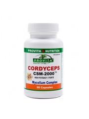 PROVITA - Cordyceps CSM-2000™ - antibacterian, antiviral, imunitate, cancer, ficat, plamani 2000 mg/90 caps