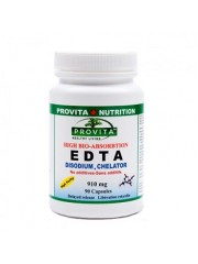PROVITA - EDTA - Chelatat disodic biodisponibil - arteroscleroza, colesterol, diabet, flebita 910 mg/90 caps