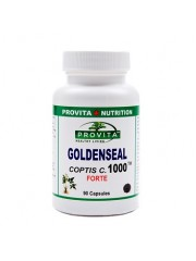 PROVITA - Goldenseal Coptis C. Forte 1000 - anti-parazitar, anti-bacterian, anti-fungal, anti-viral, anti-ancerigen 90 caps