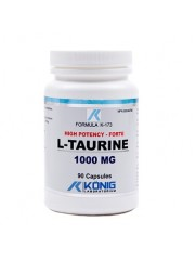KONIG - L-taurina forte - 1000 mg/90 caps - diabet, bila, inima
