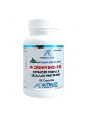 KONIG - Microhidrinaza (Microhydrinase) - aport electroliti,antioxidant,alcalinizant celular 60 capsule