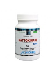 KONIG - Nattokinase (natochinaza) forte - Alzheimer, cheaguri de sange, diabet, inima, scleroza multipla, 30 de caps veg cu eliberare prelungita