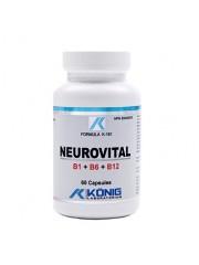 KONIG - Neurovital - Vit B1+B6+B12 - afectiuni psihice, afectiuni neurologice, meningita, neuropatie, scleroza multipla/laterala 60 caps