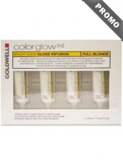 GOLDWELL Colorglow IQ - Tratament Intensiv pentru par blond -  Bright Shine Gloss Infusion Full Blonde Leave-In 4 x 10 ml