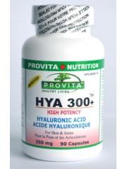 PROVITA - Acid hyaluronic - HYA-300+TM - articulatii, imbatranire, piele 350mg/90 caps
