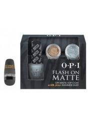 OPI - Set Top si glitere argintii si aurii - Matte Top Coat Glitters  3 prod