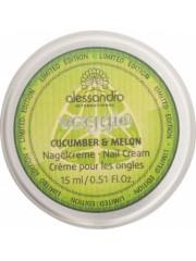 Alessandro - Crema de unghii cuticule - Veggie Nail Cream - Cucumber & Melon 15ml