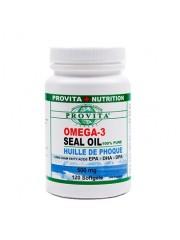 PROVITA - Omega 3 - ulei de foca - artrita, colesterol, inima, circulatie, reumatism 500 mg/120 caps moi