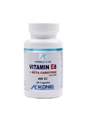 KONIG - Vitamina E8 cu beta caroten - anticancerigen, colesterol, piele 400 UI/ 60 caps