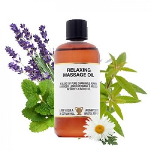 AMPHORA AROMATICS - Ulei dupa baie si masaj relaxant cu uleiuri esentiale in ulei de migdale, puritate 100%, fara adaosuri sintetice sau parafina - Relaxing 100 ml